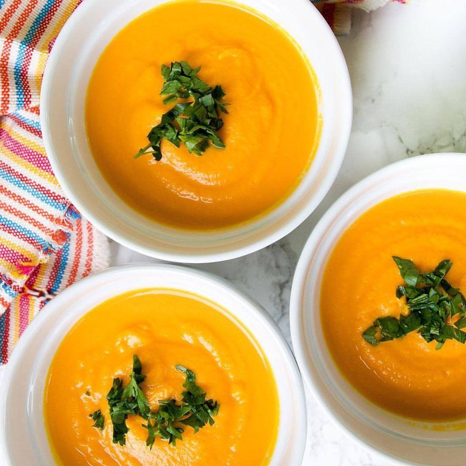Soupe crémeuse aux carottes-recette-nourriture