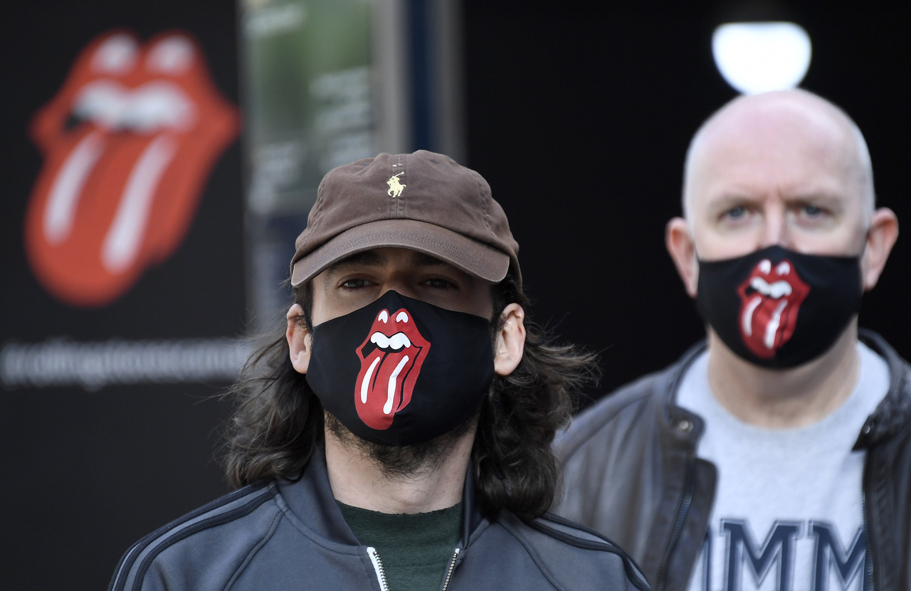 The Rolling Stones mask london