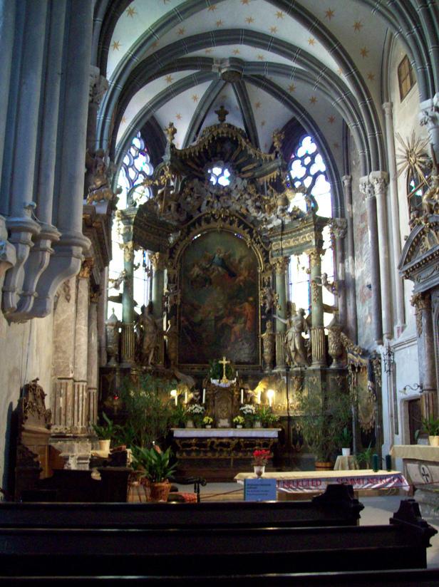 Sopron Kecske-templom Benedictine Church Inside