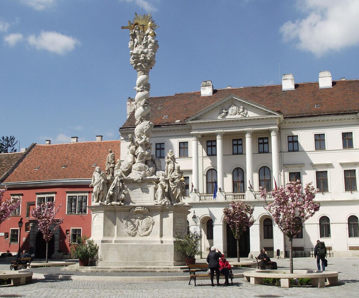 Sopron Main Square Trinity Statue