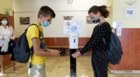 disinfection coronavirus-education-hungary-school