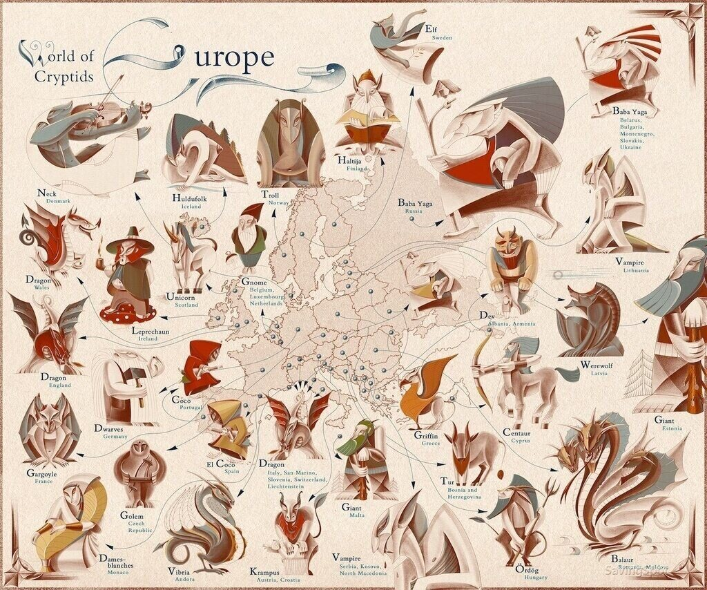 Mythical Creatures Europe