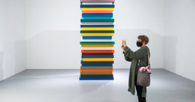 abstract artist Sean Scully exhibition in Budapest