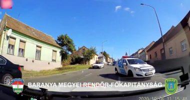 car chase Pécs