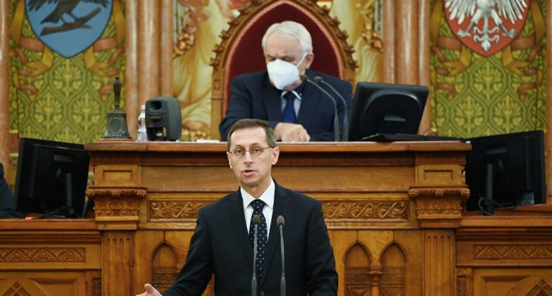 Varga Mihály Final accounts for 2019 budget discussed by the Hungarian parliament