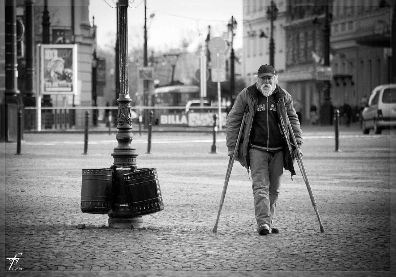 man-poor homeless