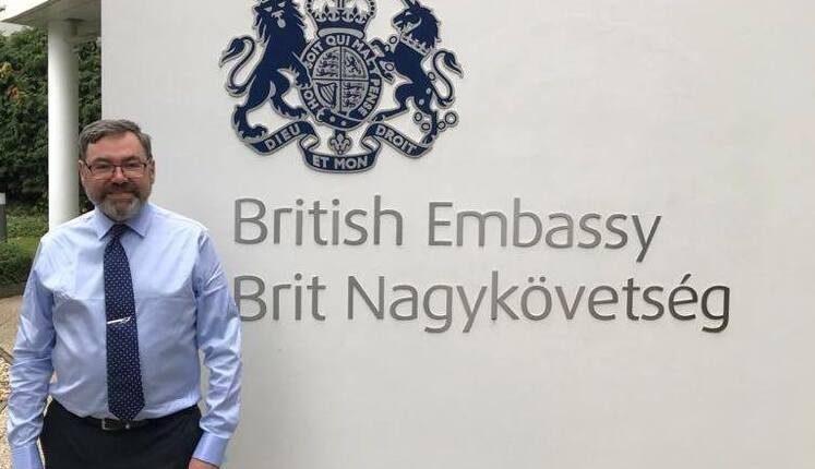 Paul Fox, the UK's new Ambassador to Hungary