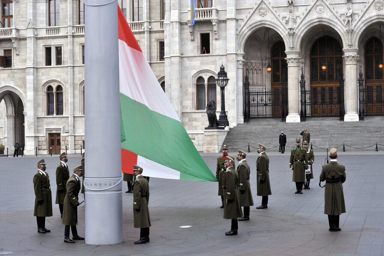Today Hungary marks 1956 anniversary, national day of mourning flag