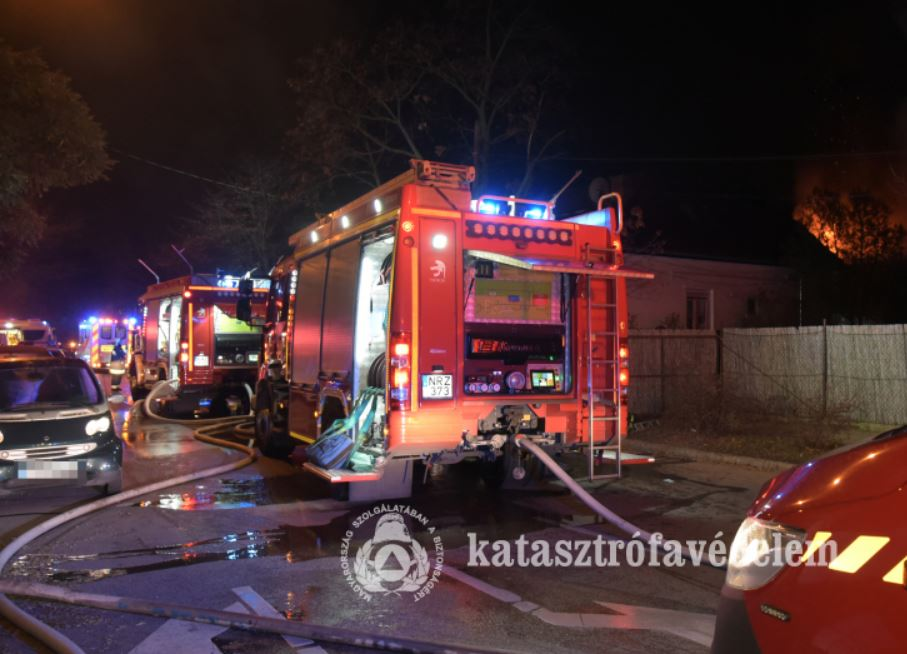 pazmany District 15 of Budapest fire pázmány street