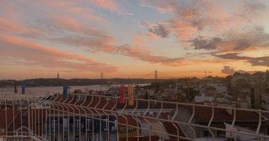 lisbon view sunset