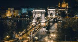chain bridge budapest hungary buildings
