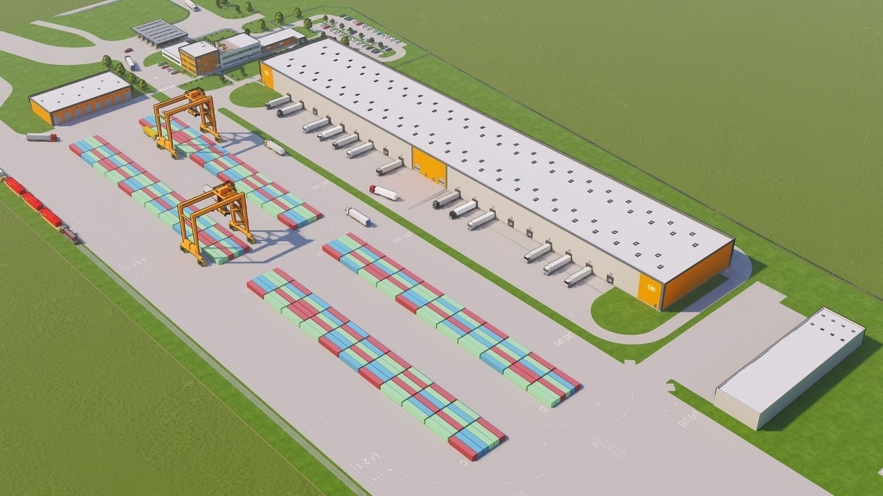 The largest intermodal railway combi terminal of Europe is being built on the New Silk Road