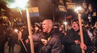 Torchlight procession of Ukrainian nationalists