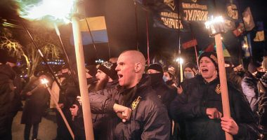 Torchlight procession of Ukrainian nationalists