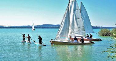 Vitorláshajó Balaton Water Lake Víz