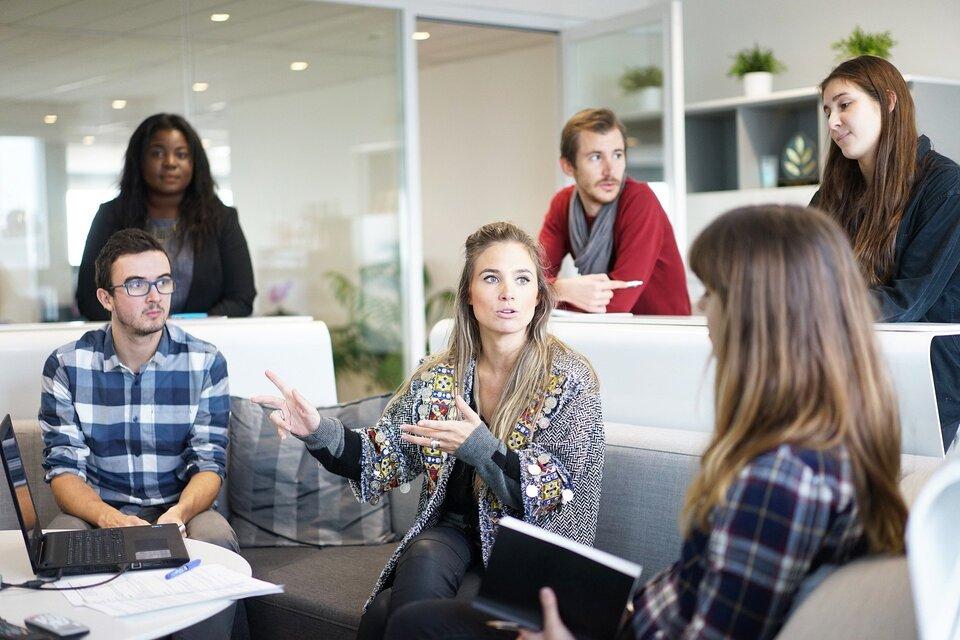 brainstroming meeting workplace