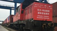 Chinese freight container trains