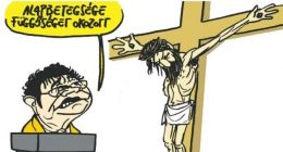 caricature of Jesus and Hungary's chief medical officer