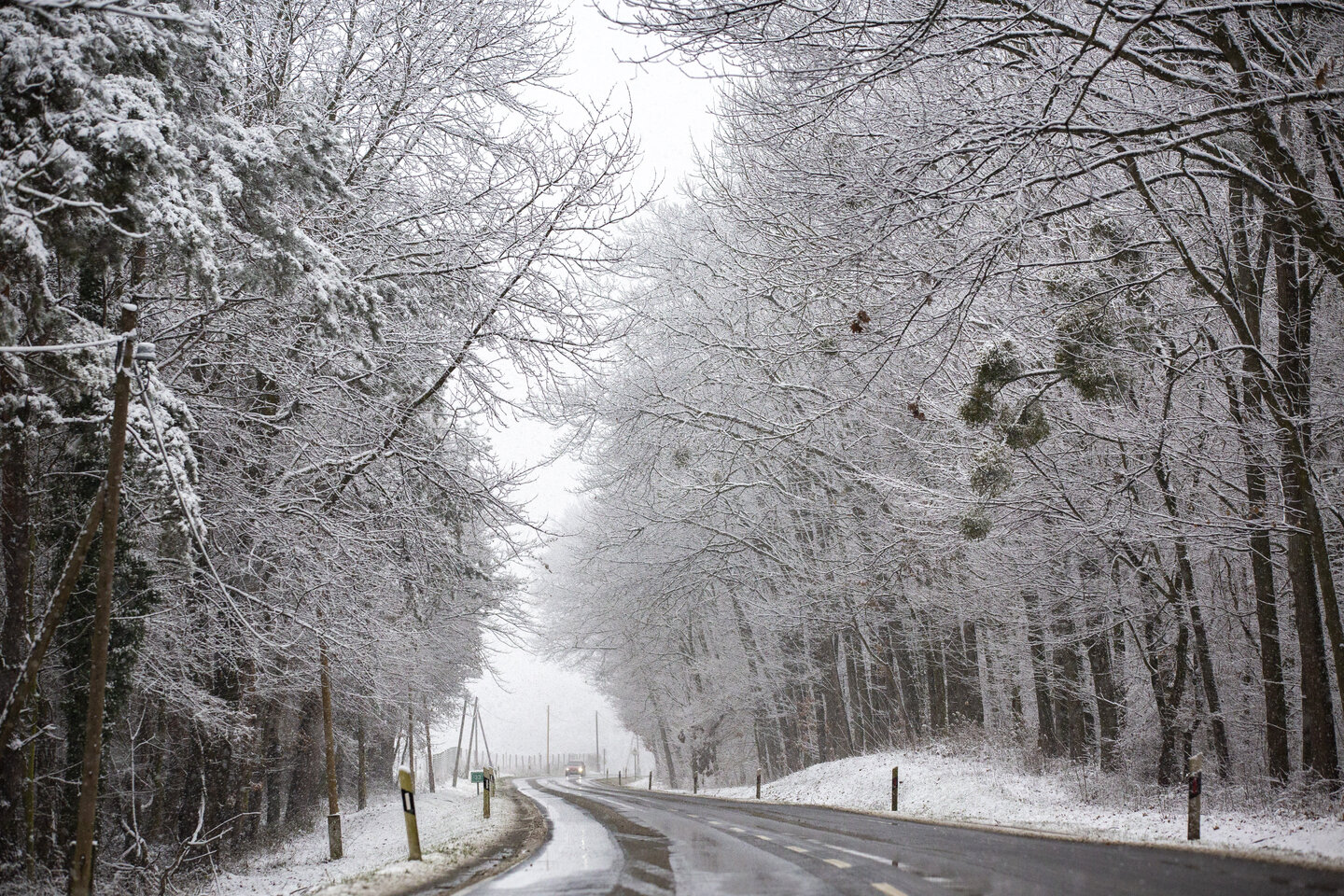 snow in hungary