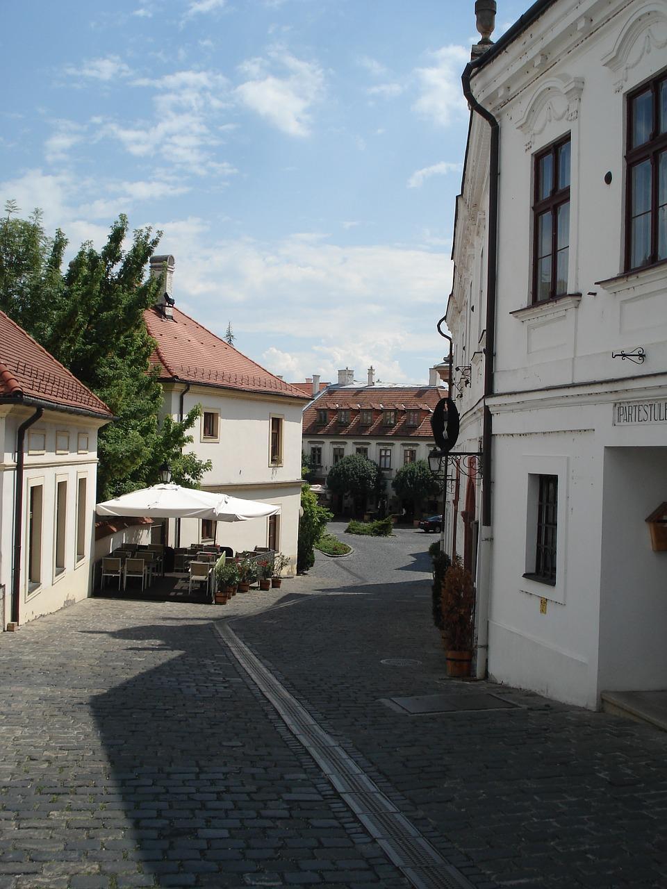 Veszprém - little street leading to the castle