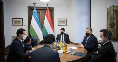 Prime Minister Viktor Orbán met Uzbekistan's Deputy Prime Minister Sardor Umurzakov in Budapest