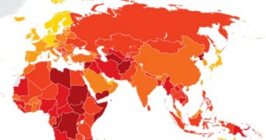 Corruption Perception Index graph