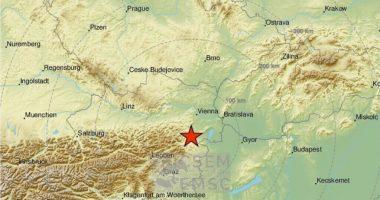 Map Earthquake Földrengés Térkép Ausztria Austria EMSC
