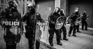 Riot Police Rendőrség Roham Tüntetés