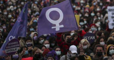 Turkey Womens Rights Protest Törökország Tüntetés Nők Védelméért
