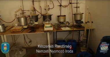 illegal pharma lab in Hungary