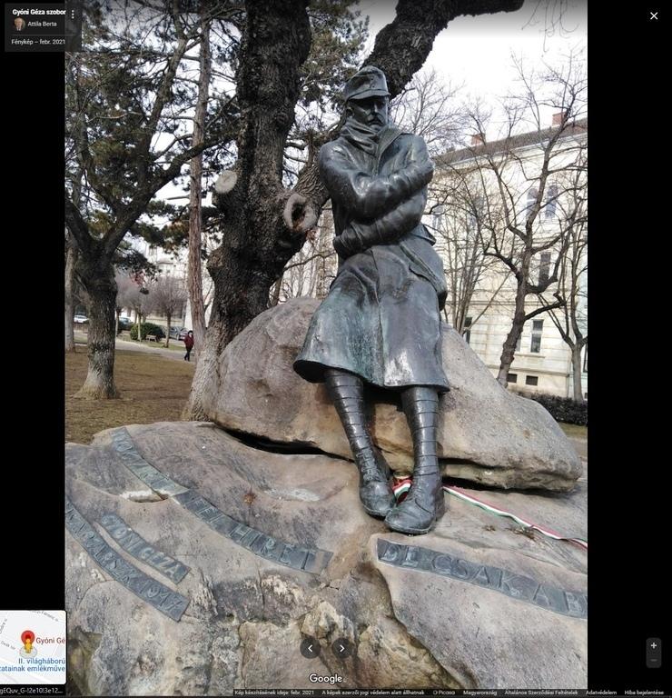 Gyóni Géza Monument Mai