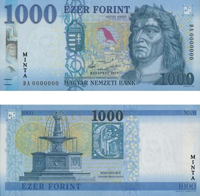 HUF banknote Forint money