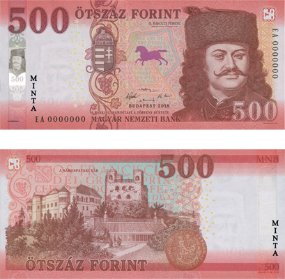 HUF 500 banknote Forint