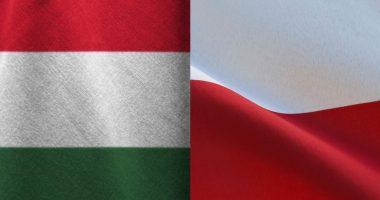 Poland and Hungary Flag Zászló Lengyelország Magyarország
