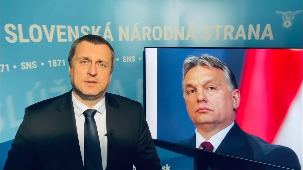 Slovak Szlovák SNS elnök Chairman Hungary Sputnik
