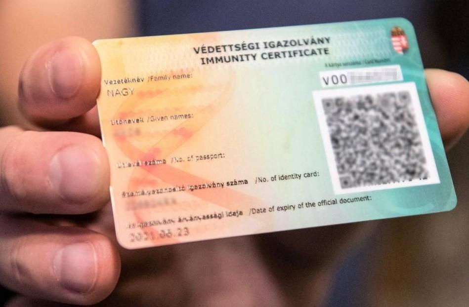 immunity certificate