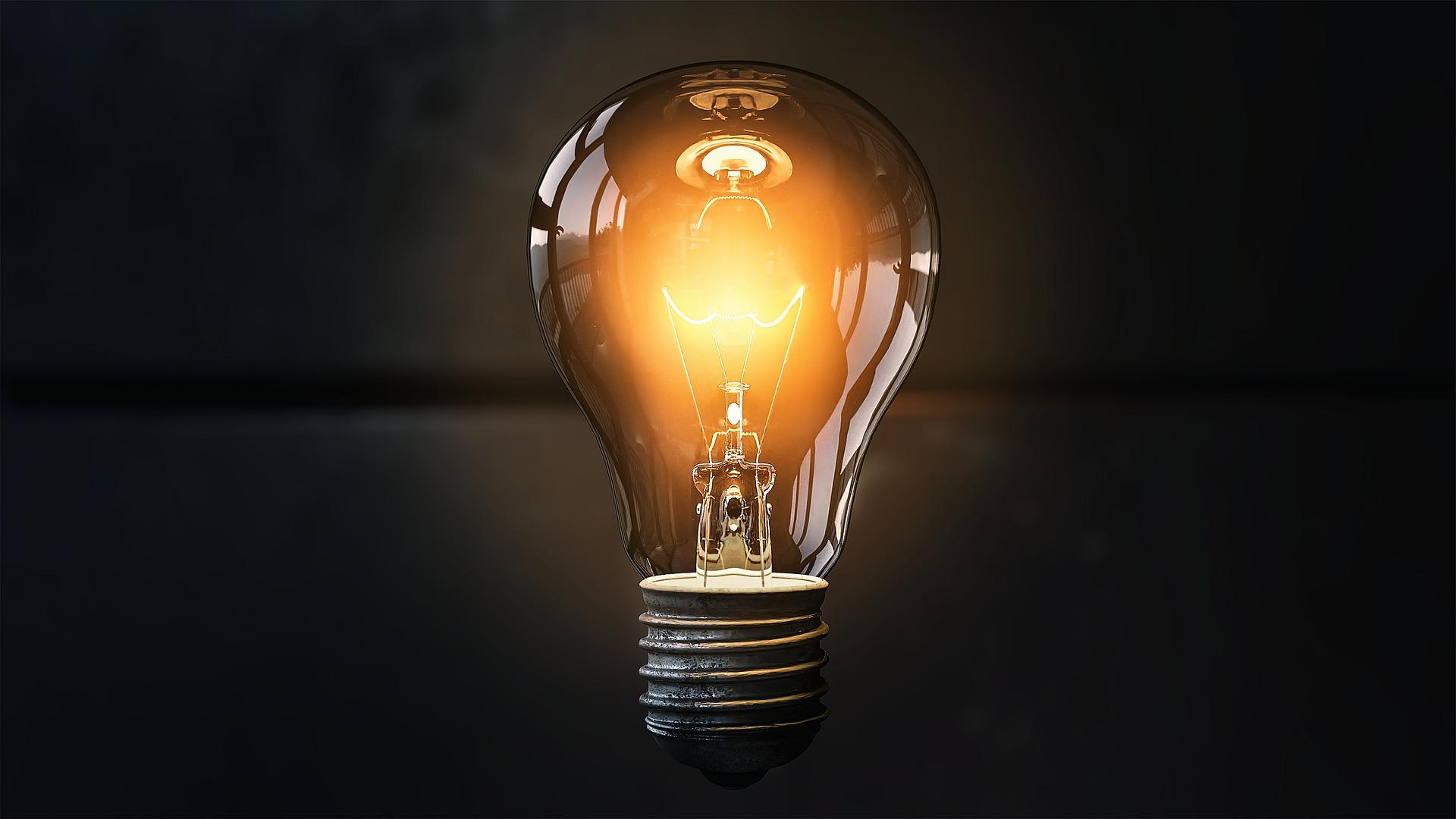 lightbulb idea success