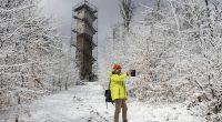 Hungary snow winter April