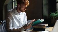 student reading univeristy