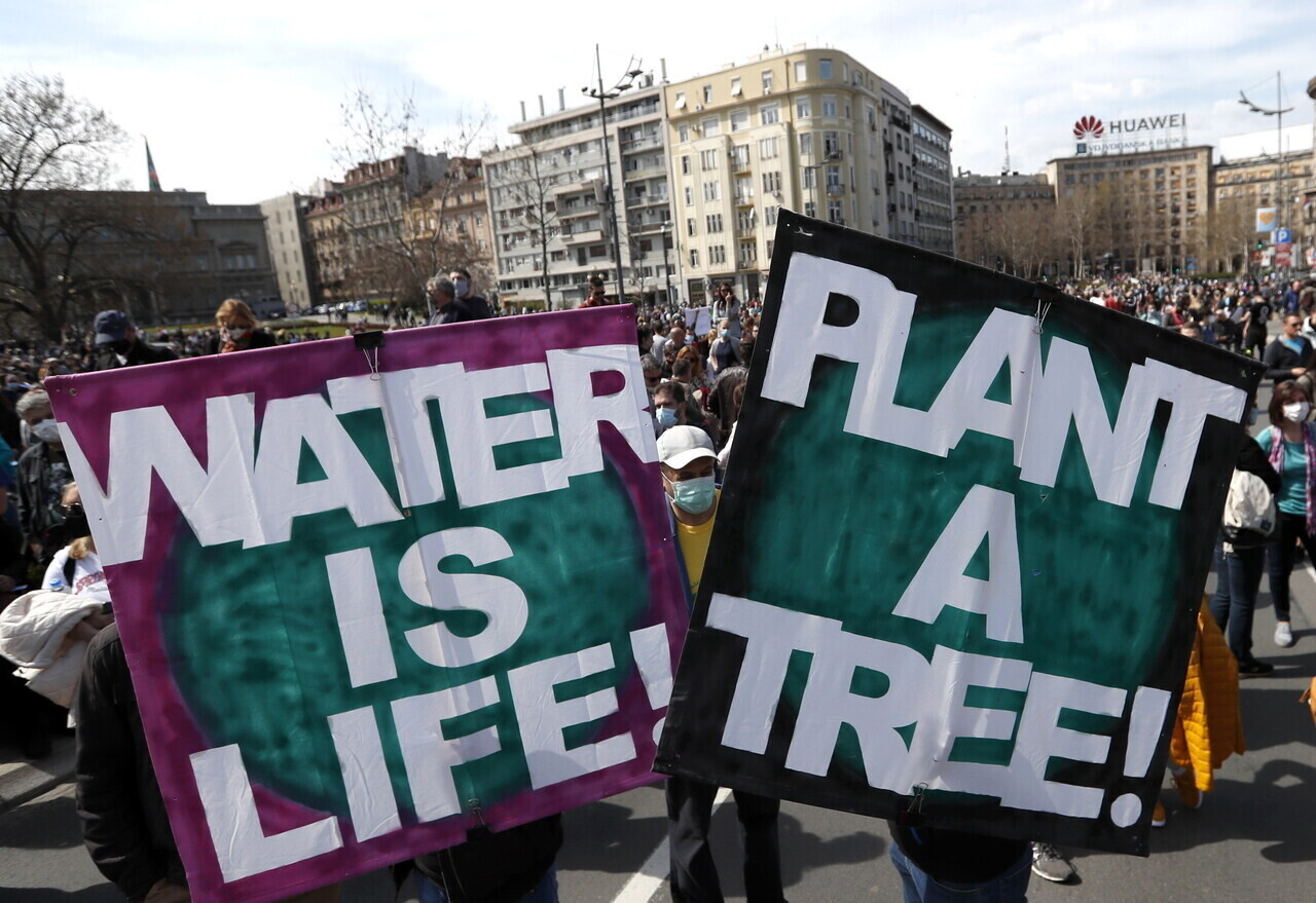 serbia protest environmental protection