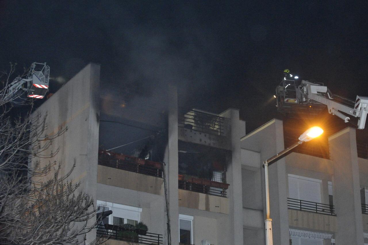 Apartment Building Fire