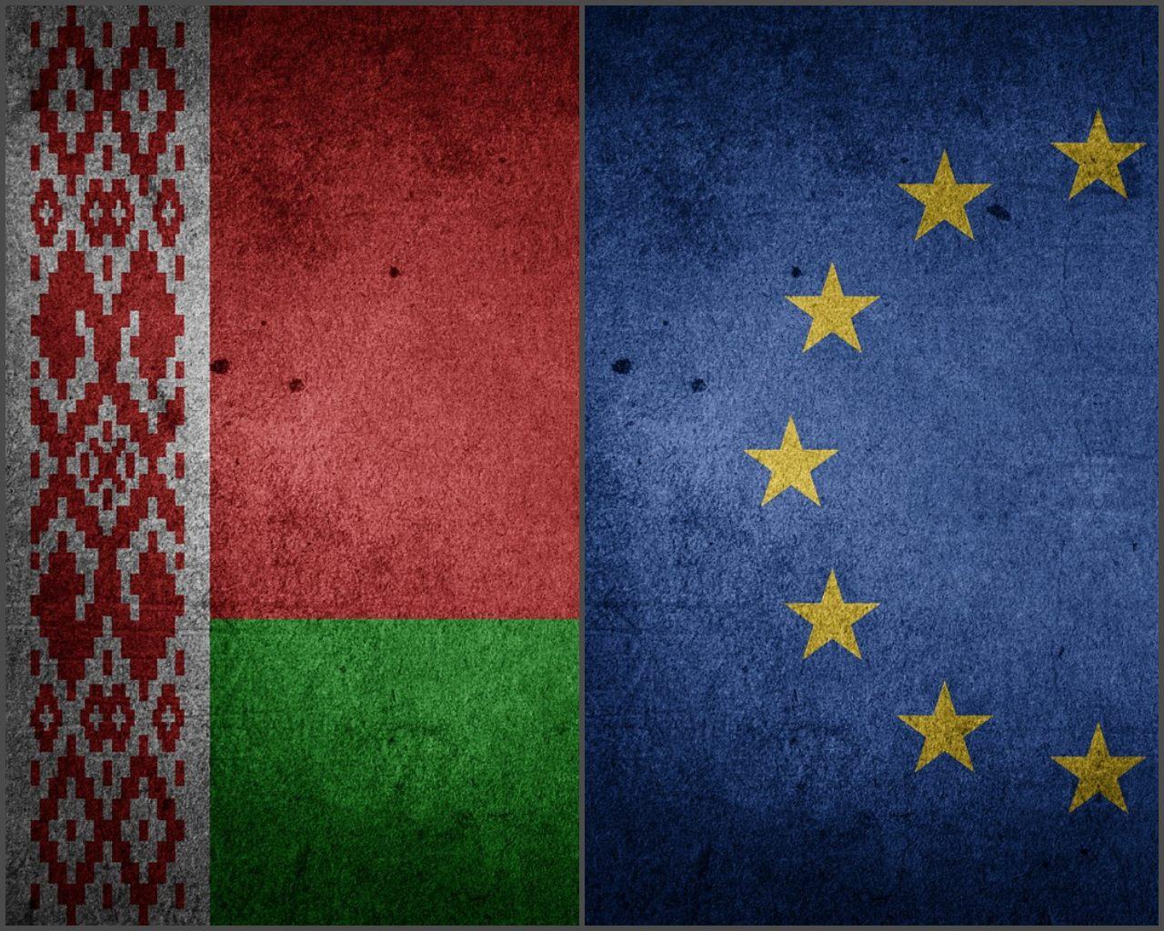 Belarus and Euroepan Union Flag
