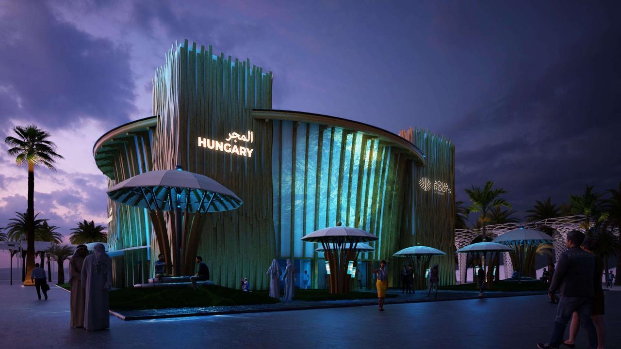 Dubai World Expo Hungarian Pavilion Night