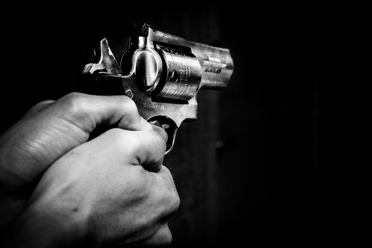 Gun Violence Abuse Crime Robber Pistol Revolver