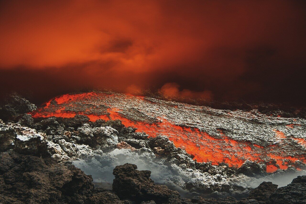 Lava Eruption Nature Volcano