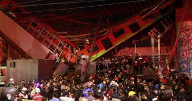 Mexico City Train Crashes After Overpass Collapses, Killing at Least 20