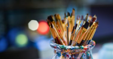 brushes painting art