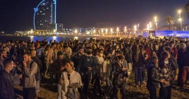 spain coronavirus curfew ended party pandemic
