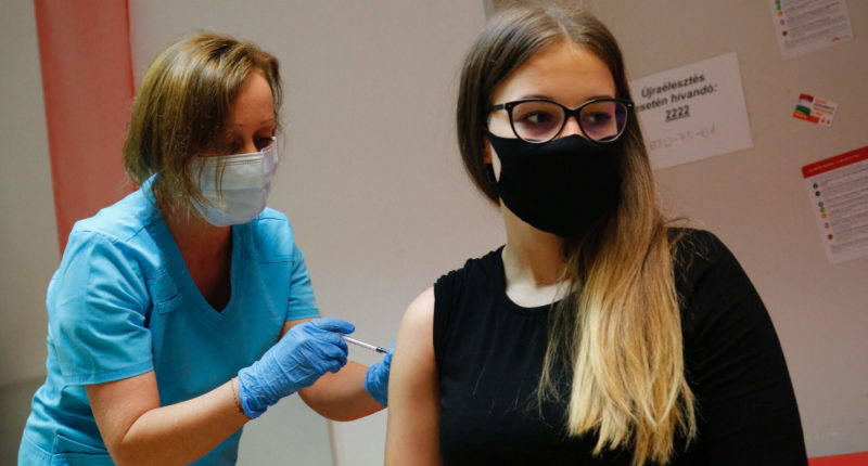 vaccination of teens in hungary