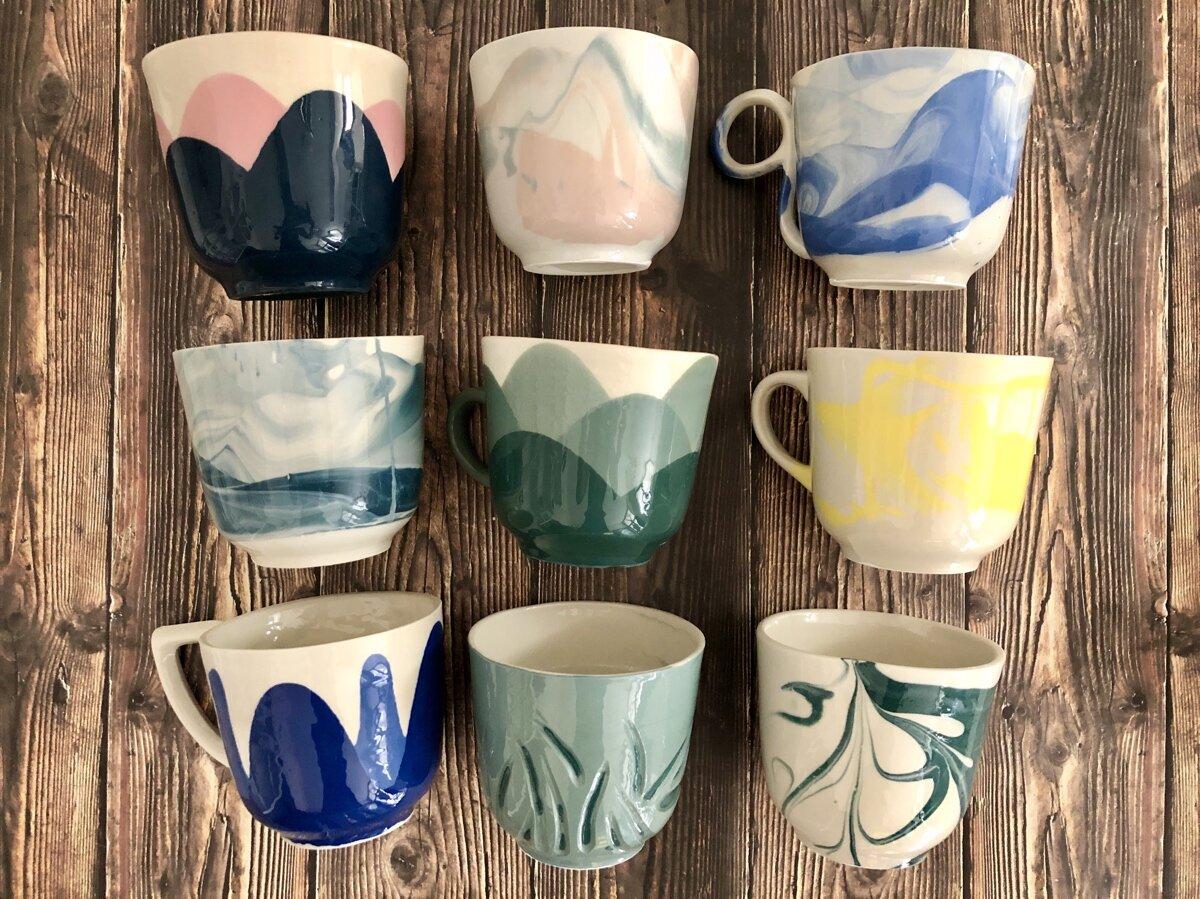 yourart ceramics porcelain mugs workshop